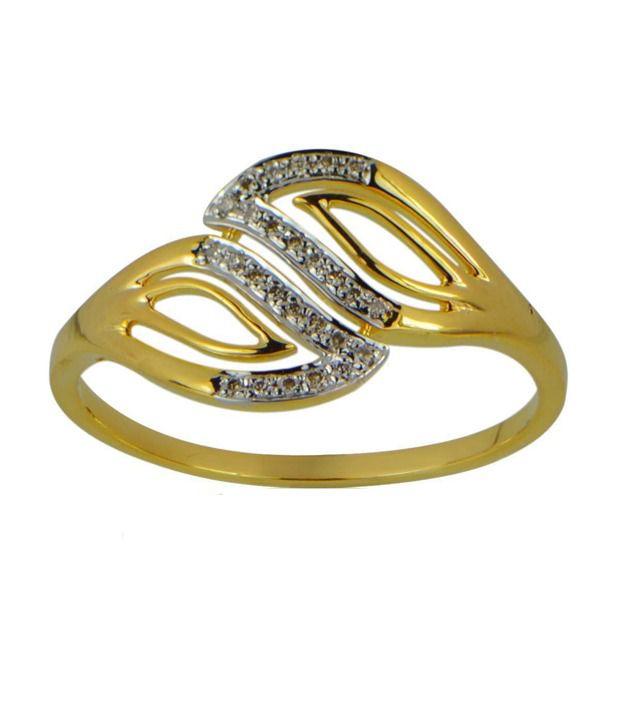 Om Jewels Diamond Ring 18k Gold 26 Diamonds