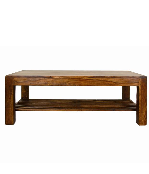 Solid Wood Coffee Table Online India: Antimony Solid Wood Coffee Table