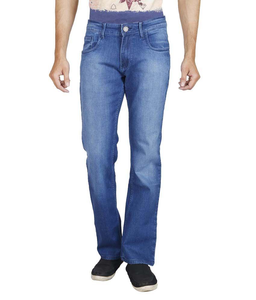 Elfried Blue Regular fit Faded Jeans