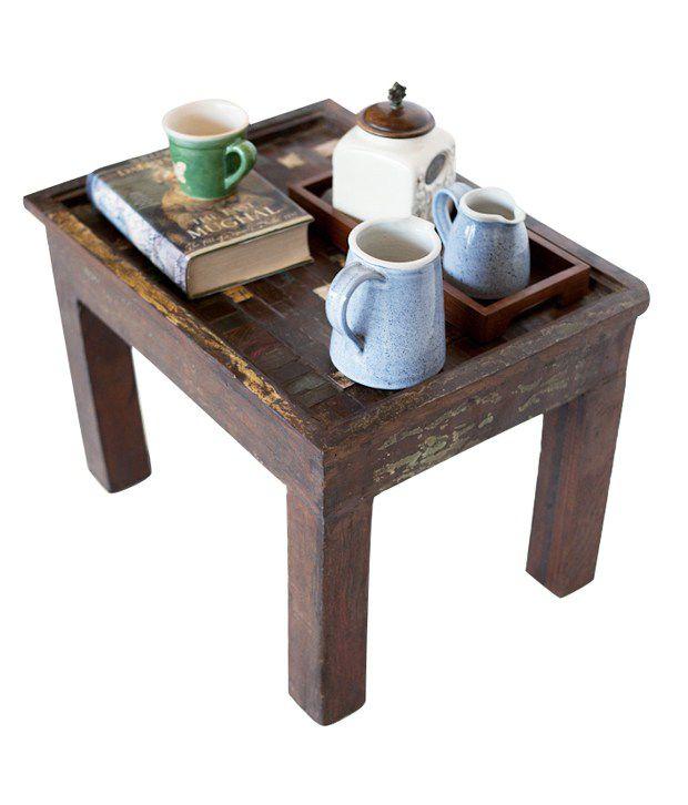 Jodhpur Solid Wood Side Table