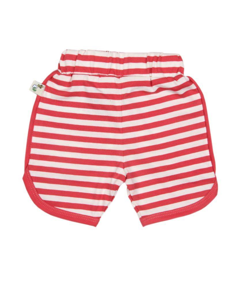 Pranava Multi Color Cotton Striped Shorts