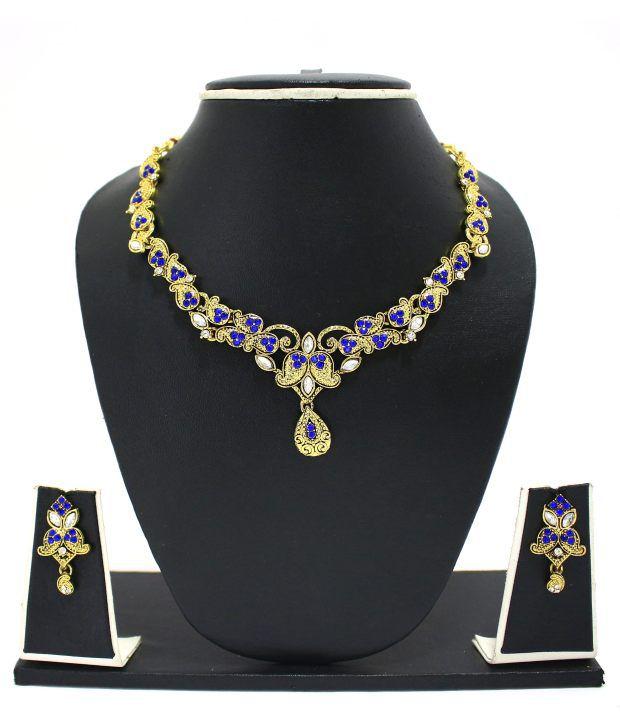 Zaveri Pearls Fab Flora Necklace Set