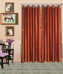 Handloom Villa Brown Contemporary Polyester Door Curtain Se - 634391191577