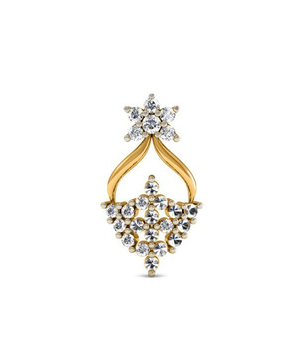 Diaonj Diamonds And 18kt Gold Drop Earrings