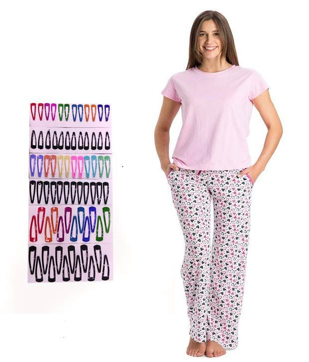 4d4e365e6b Buy Jockey Pink Cotton Pajamas Online at Best Prices in India - Snapdeal