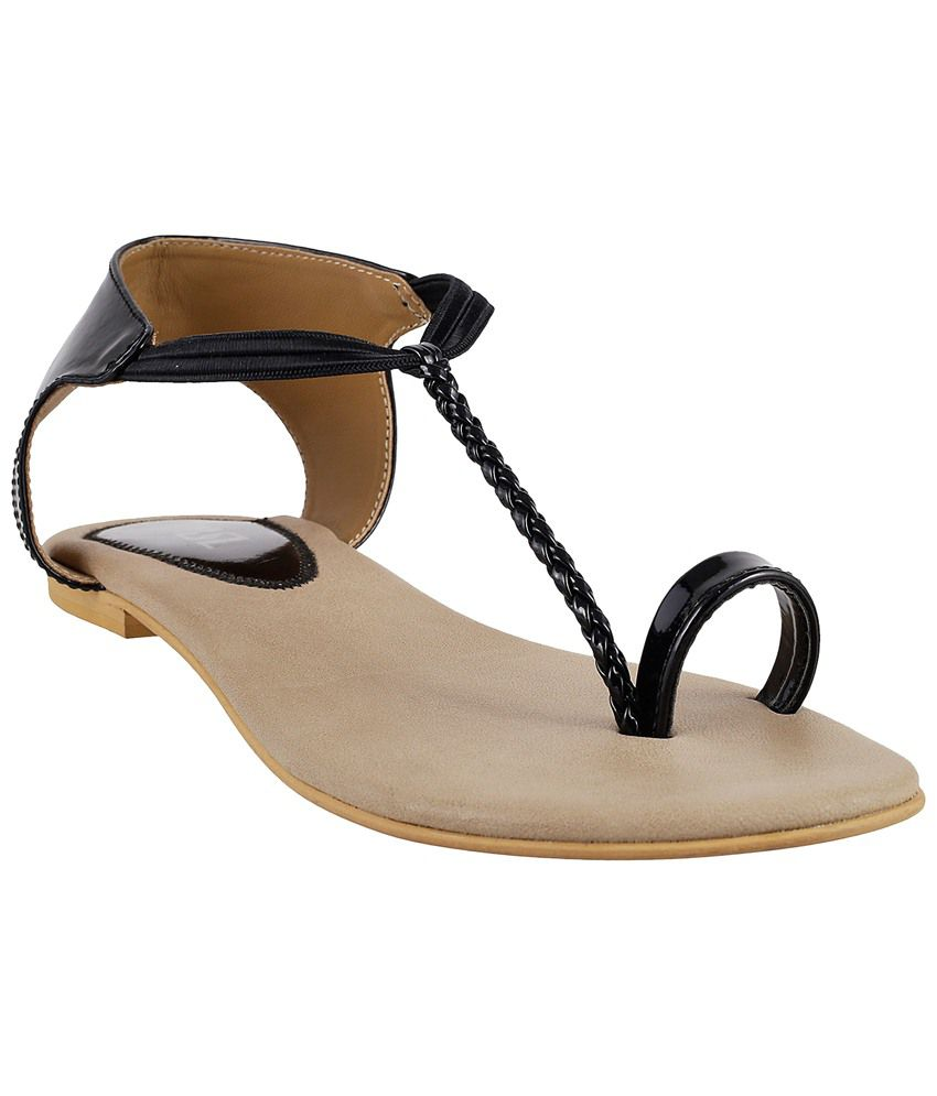 1f1be4c9661 MSL Black Flat Sandals for Women Price in India- Buy MSL Black Flat Sandals  for Women Online at Snapdeal