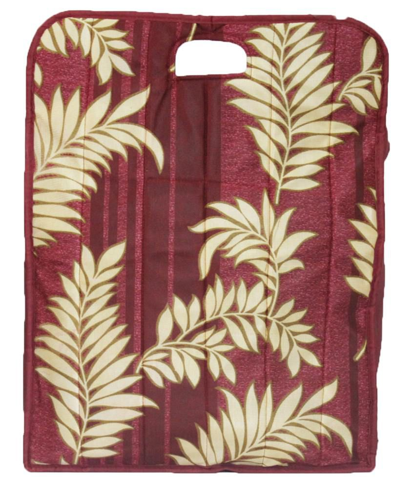 Ombags&more Maroon Handmade Quilted Shopping Bag