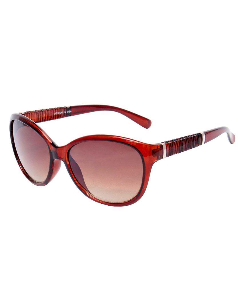 Optical Express Plastic Brown Color Cateye Shape Women Sunglasses