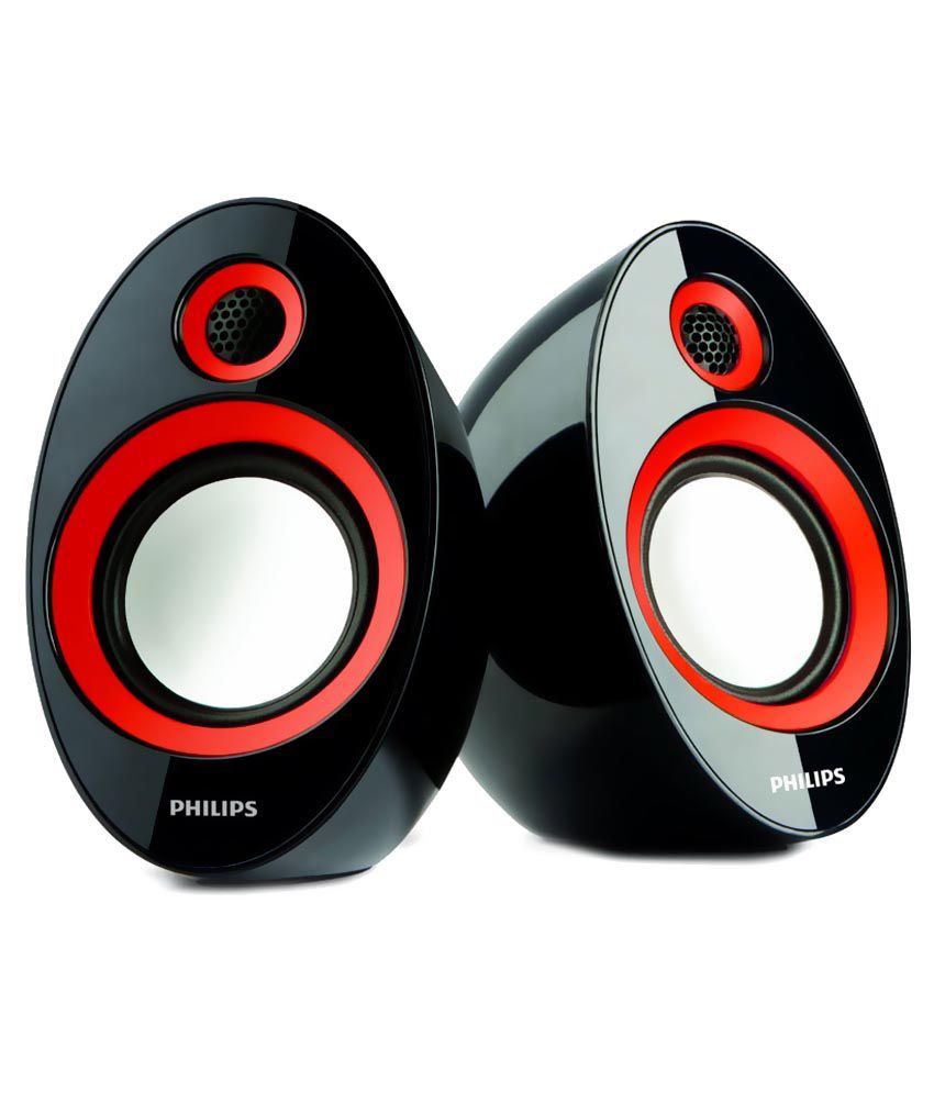 Philips Usb Speakers 2 Computer Speakers Red