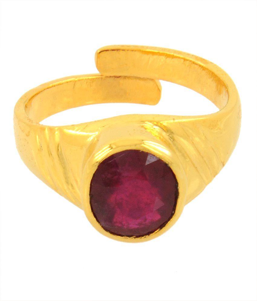 Paduka 6.17 Ratti Citrine in 5 Dhathu Ruby Gemstone Ring