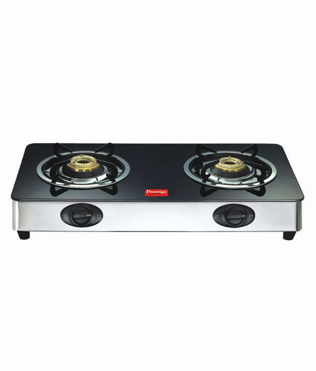 Prestige GT 02 SS AI Glass Gas Cooktop (2 Burner)