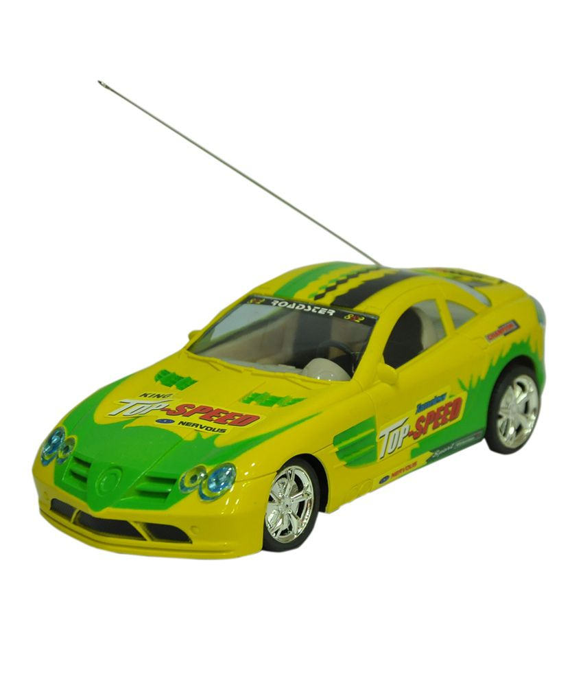 Scrazy Yellow Plastic First Leader Car For Boys