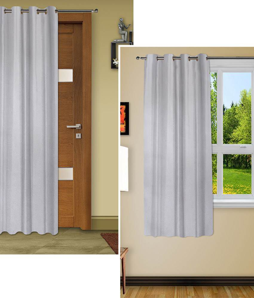Story@Home Set Of 2 ( 1 Window + 1 Door) Blackout Curtains Solid   Buy  Story@Home Set Of 2 ( 1 Window + 1 Door) Blackout Curtains Solid Online At  Low Price ...