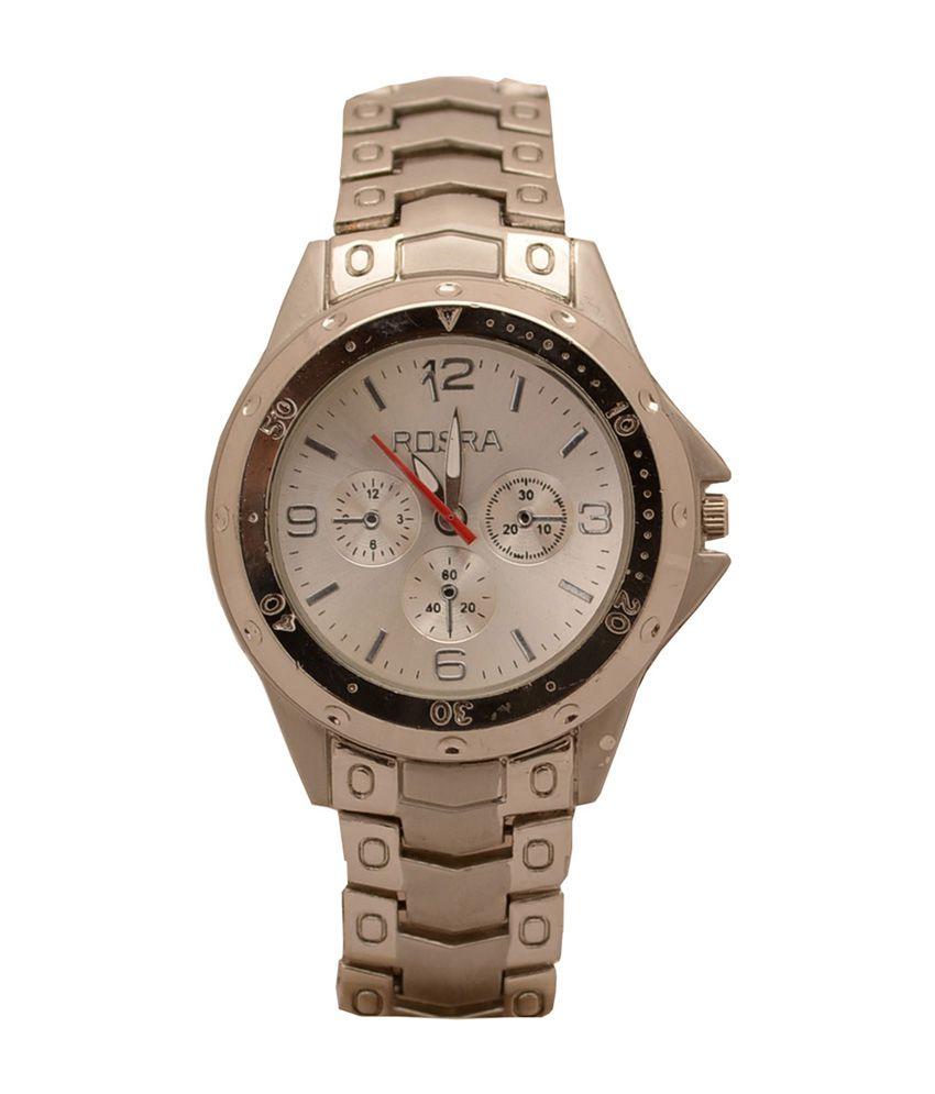 Rosra white dial metal analog men 39 s watch mw31 buy rosra white dial metal analog men 39 s watch for Rosra watches