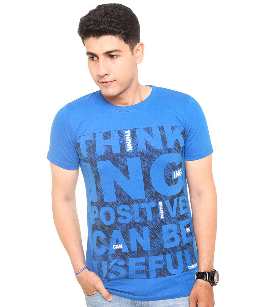 Zwizdot Blue Cotton T Shirt