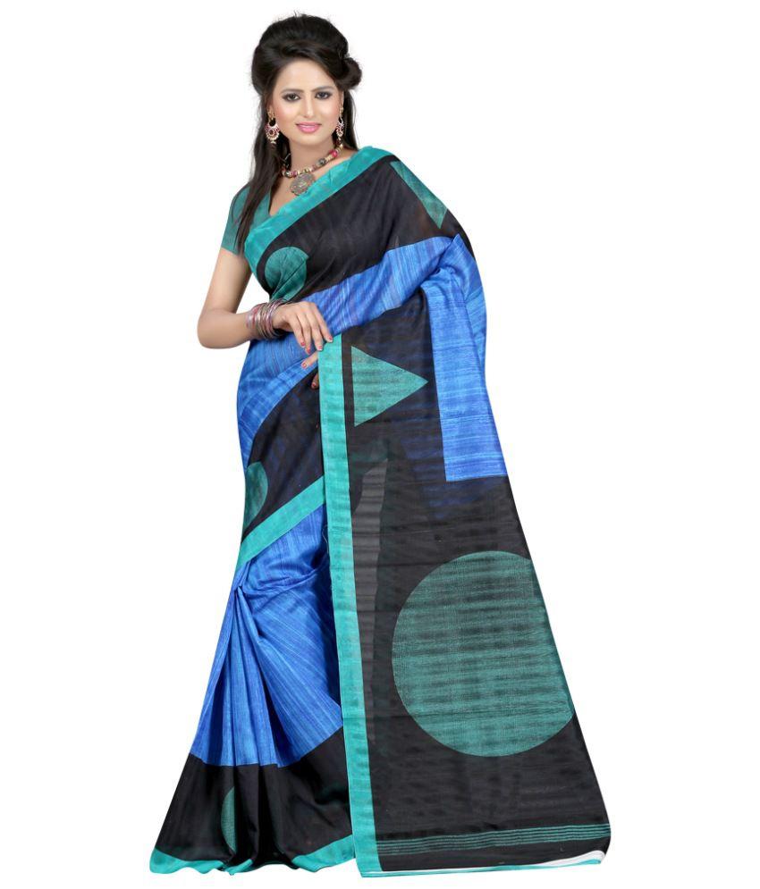 Designer Saree Multi Bhagalpuri Silk Saree