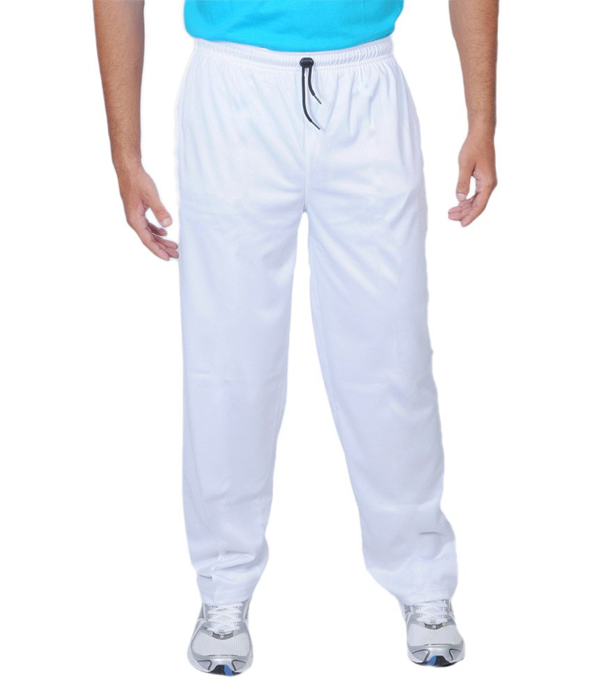 Force White Polyester Cricket Trackpant