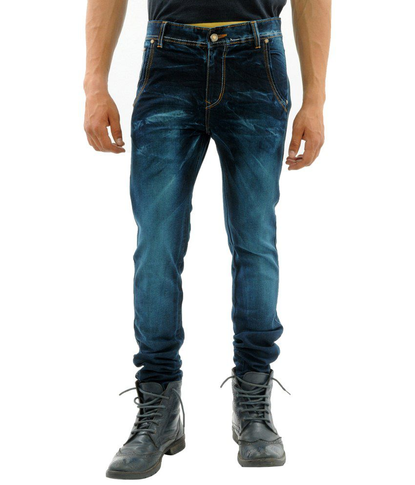 Sny Hind Outfitters Pleasing Combo of 2 Blue Slim Fit Jeans for Men