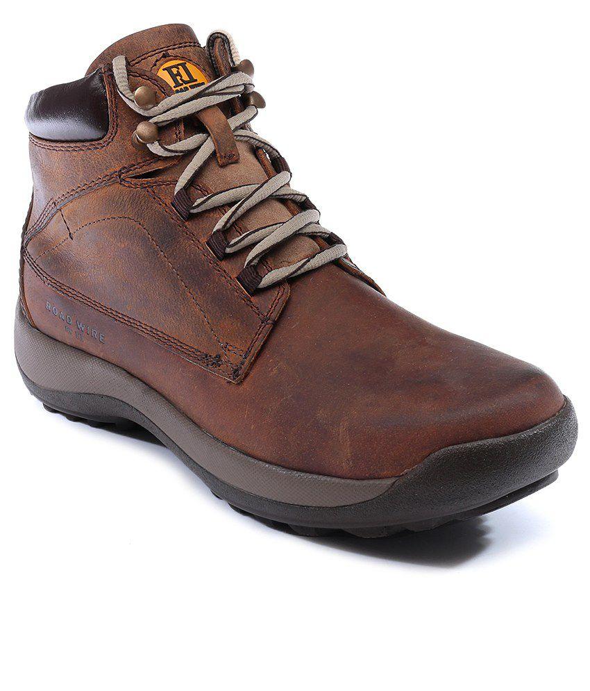 Franco Leone Brown Men Boot Shoes
