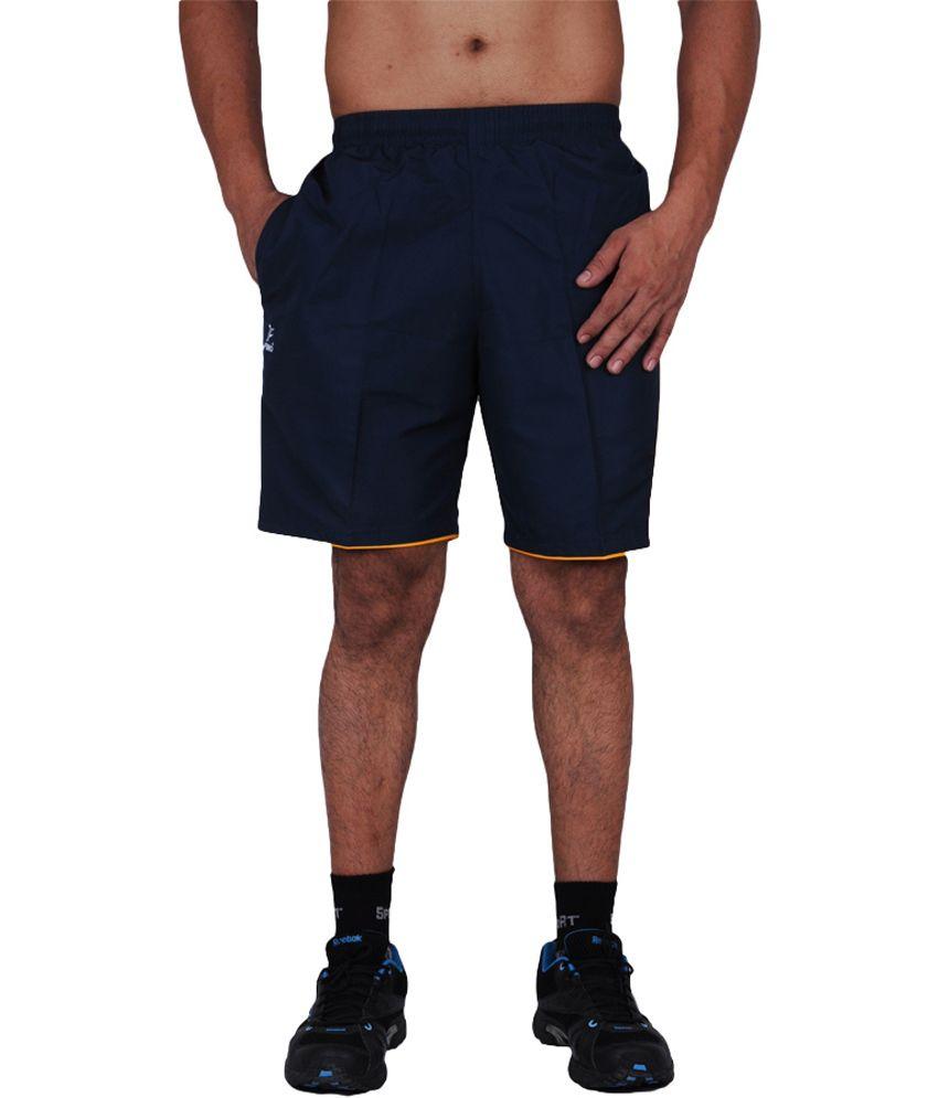TLH Fino London Clino Sweat Absorbing Sports Shorts - Navy