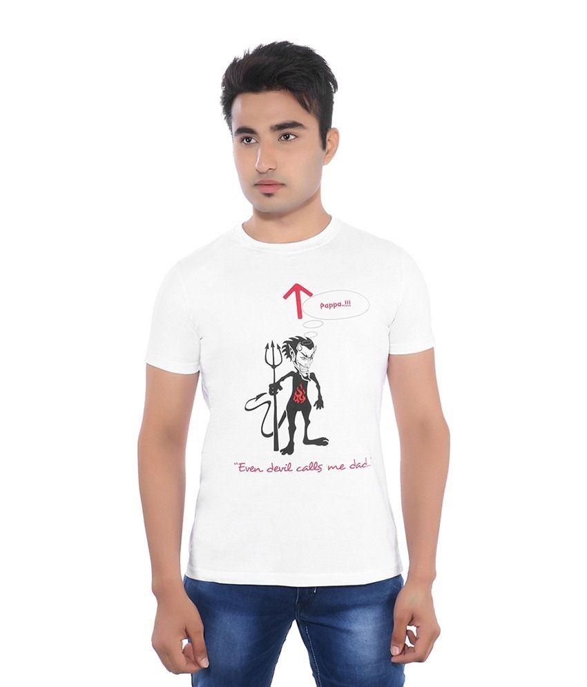 Pavitra Paapi White Cotton T Shirt