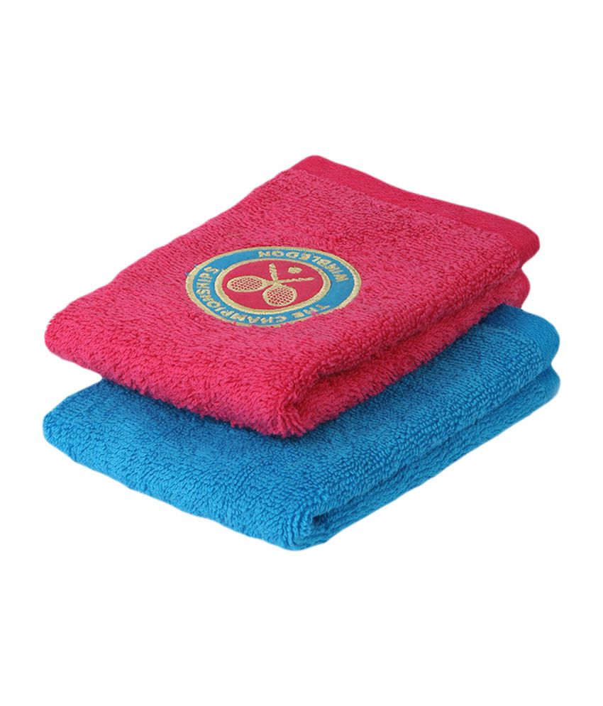 Wimbledon Ladies Face Towel 2015 (Set of 2) - Red & Blue