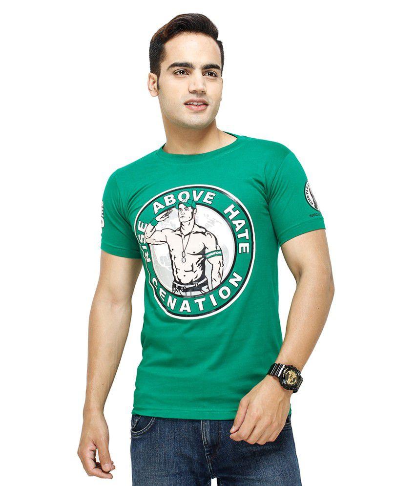Fashion Enterprises Green Color Men's Printed T Shirt