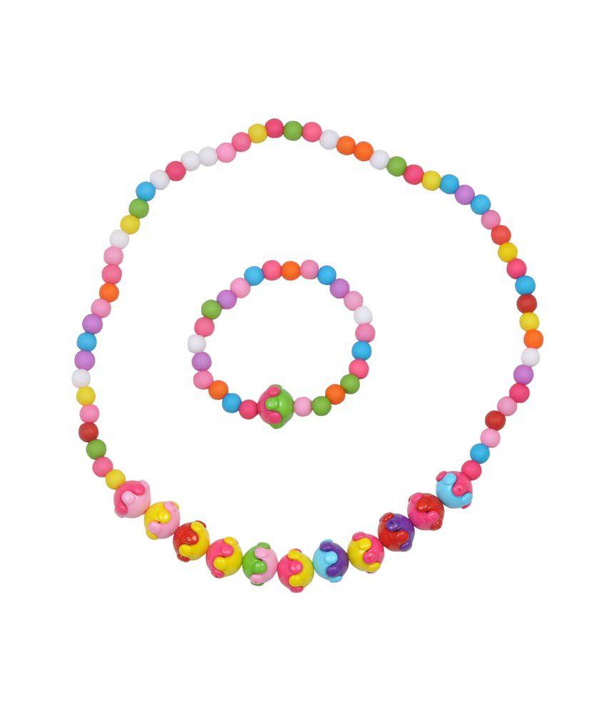 Angel Glitter Shinning Stars For Little One Necklace Set