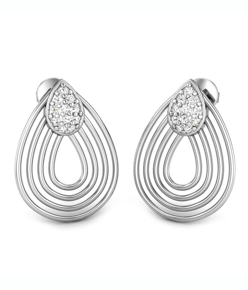 Candere Flamingos Diamond Earring White Gold 18K