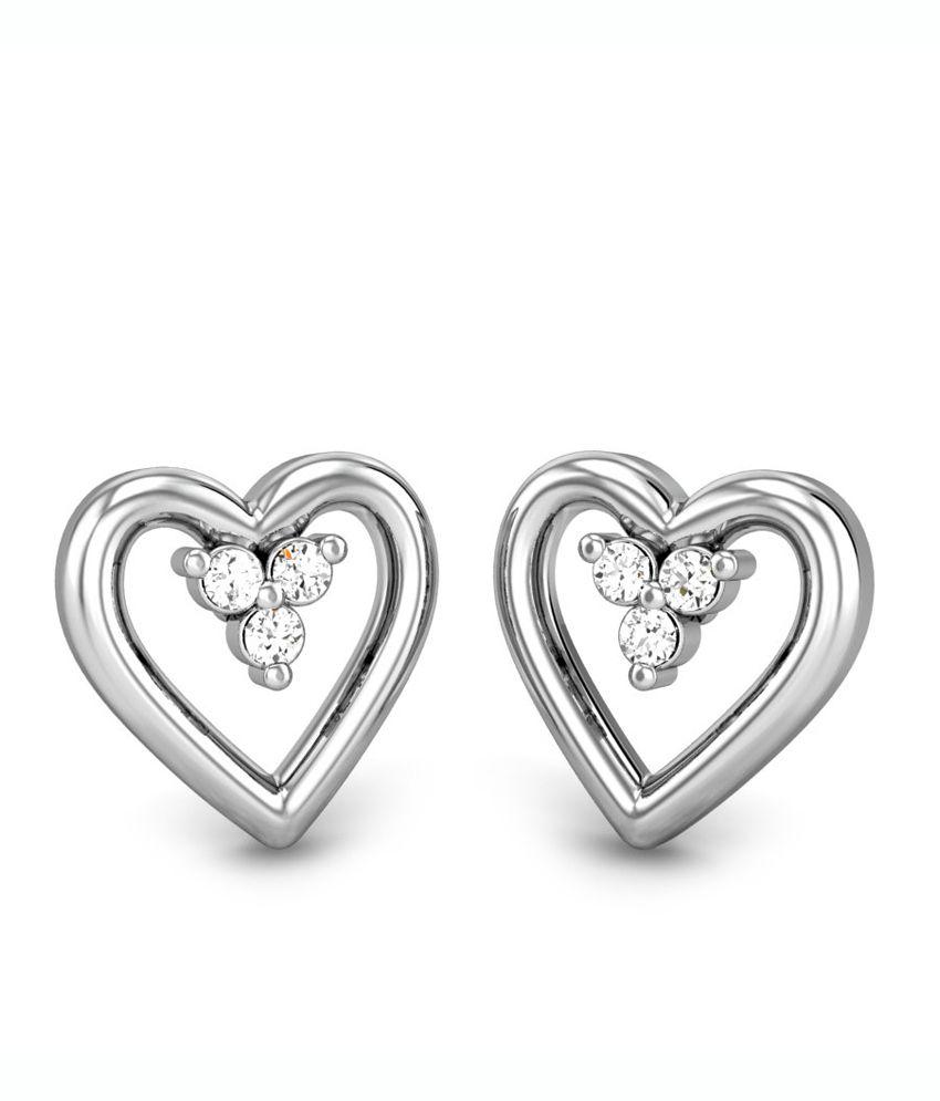 Candere Reva Diamond Earring White Gold 18K