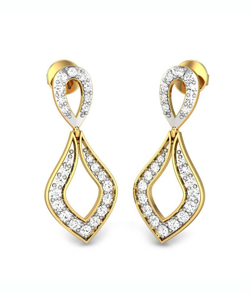 Candere Urvi Diamond Earring Yellow Gold 18K