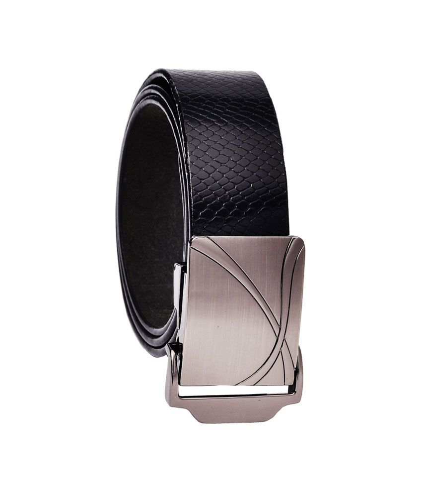 Hawai Black Leather Belt