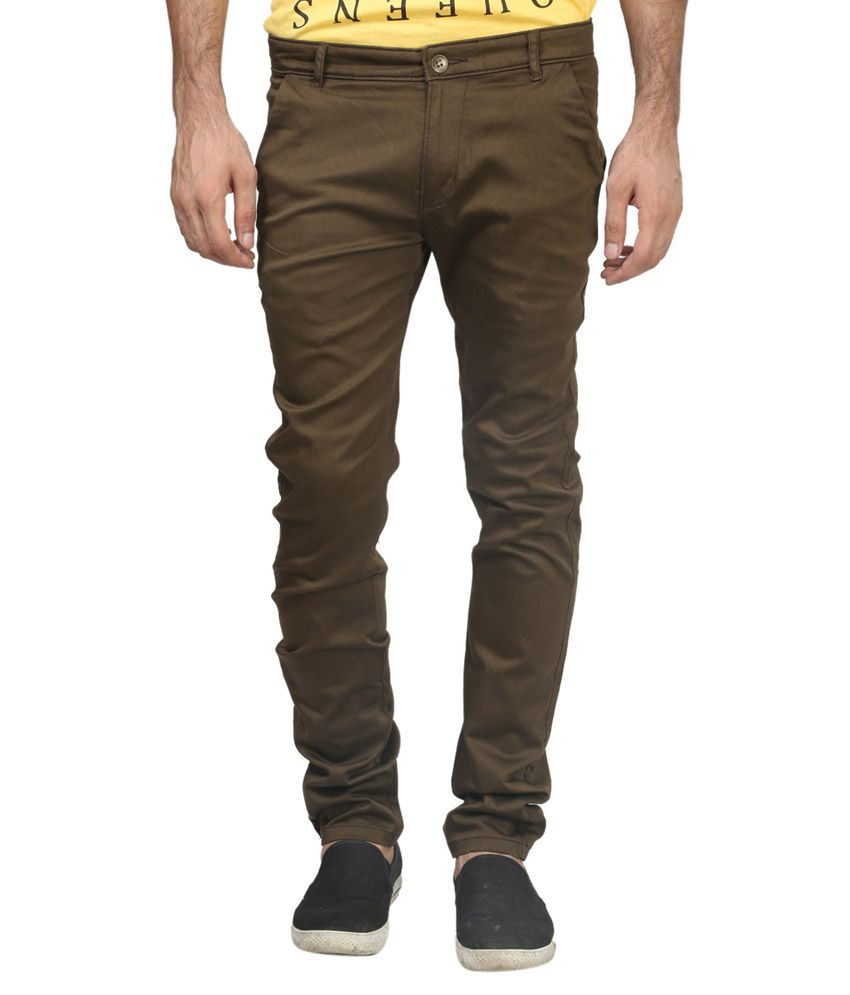 Trendy Trotters Green Cotton Casual Trouser