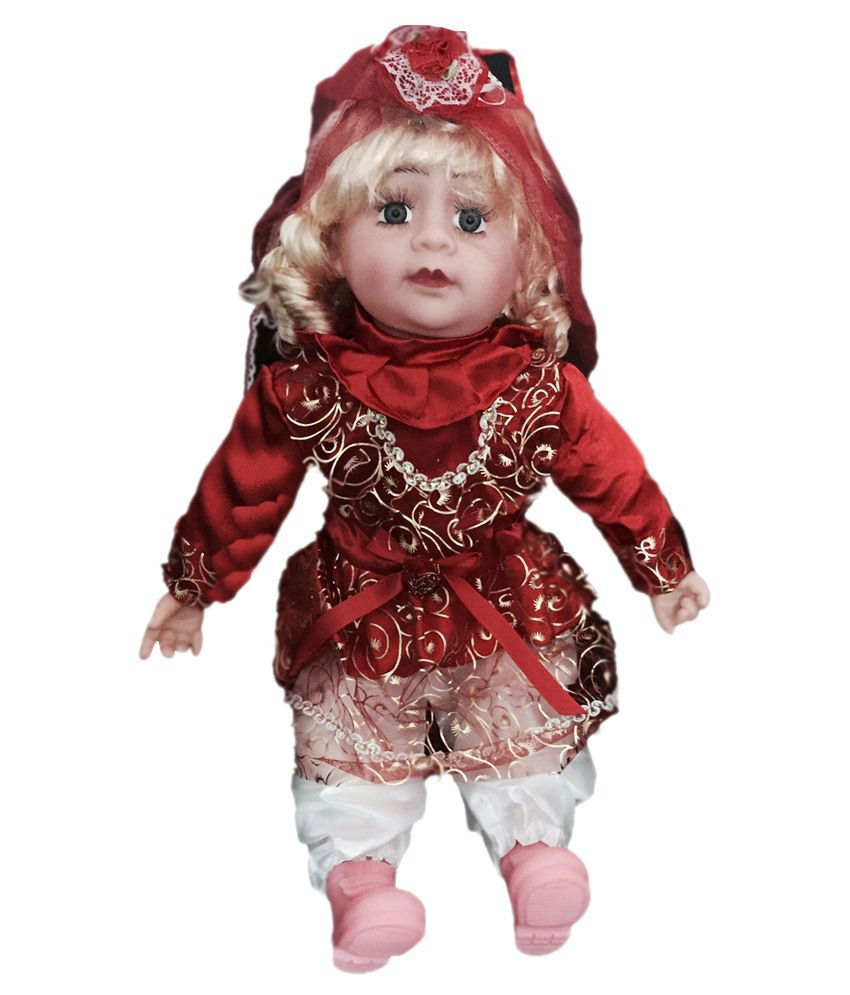 ATC Toys ATC Toys Musical Baby Doll In Red Dress