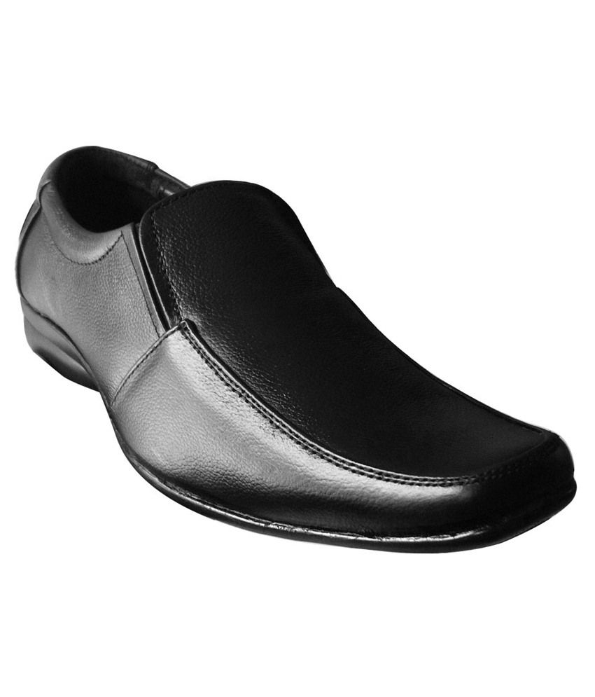 ef696d66f50 Official Black Formal Shoes Without Lace Footkart In India