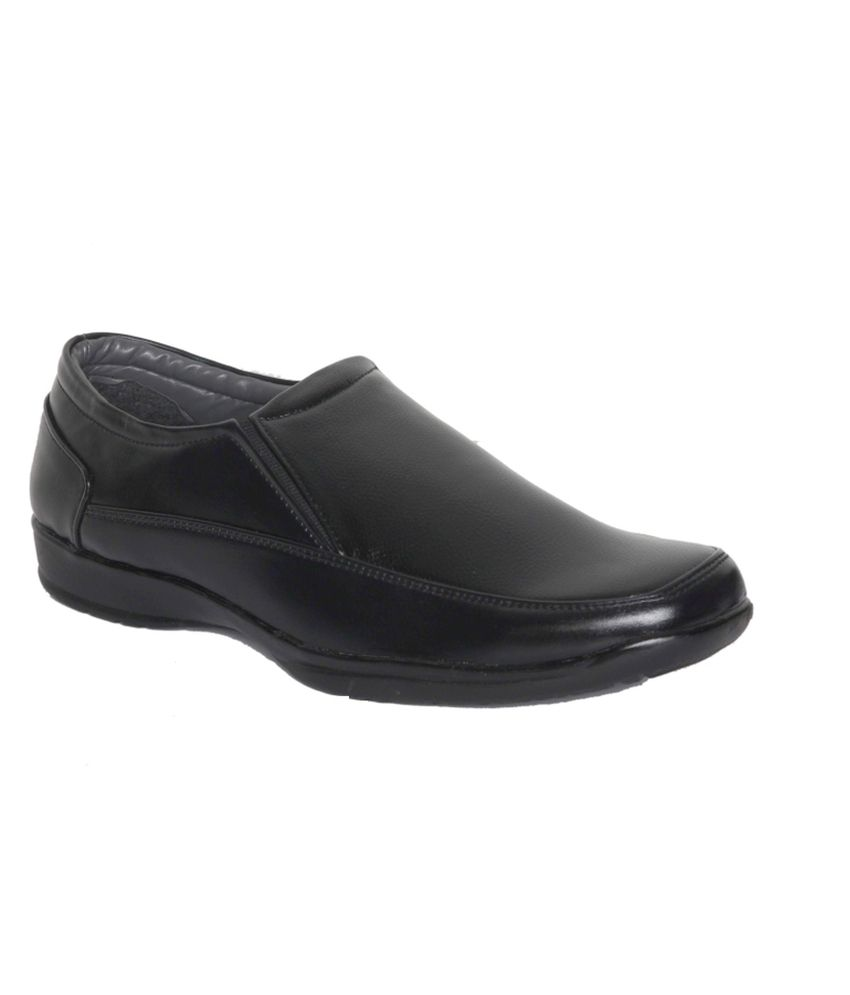 af085822a05 Leeport Black Synthetic Leather Formal Shoes Price in India- Buy Leeport  Black Synthetic Leather Formal Shoes Online at Snapdeal