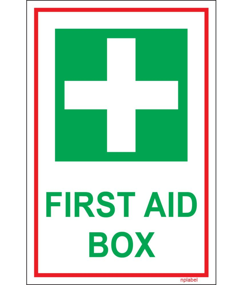 Nplabel First Aid Box Sign Name Label First Aid Box Sign Name