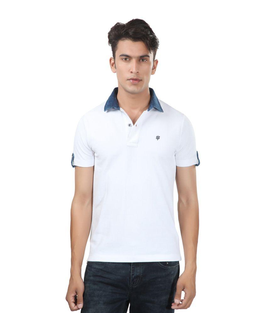 Uni Style Image White Cotton T-shirt