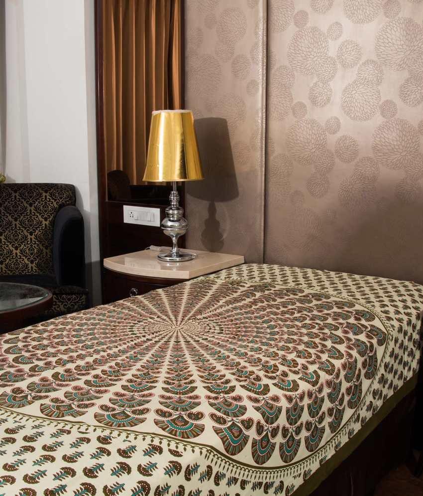 UniqChoice Multicolor Cotton Single Bedsheet