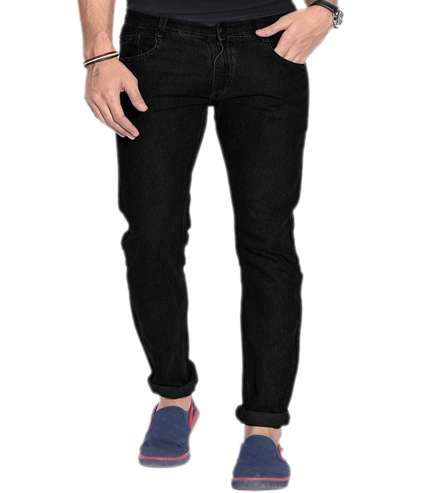 Jovial Mart Store Black Cotton Skinny Fit Jeans