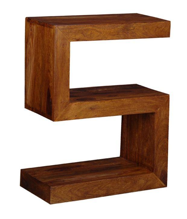 Sheesham Wood S-Shaped End Table