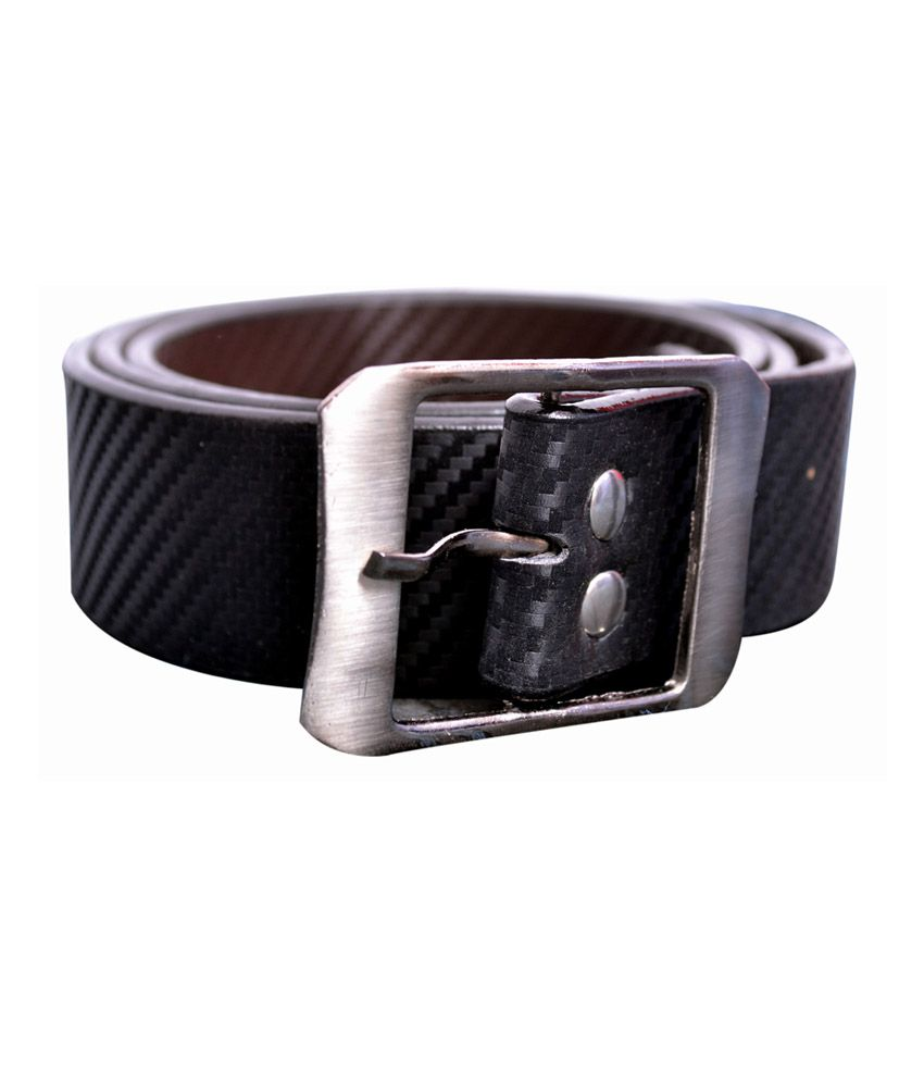 Abeer Trading Company Black Leather Formal Belt