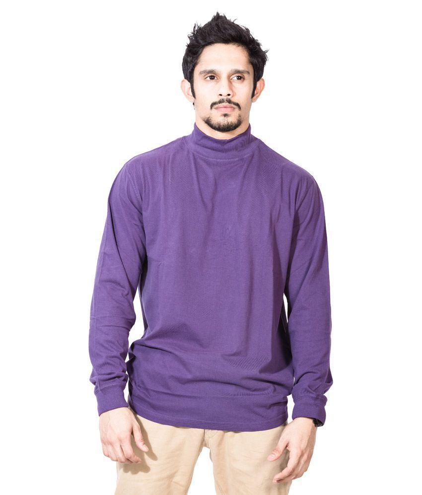 Dream of Glory Inc. Purple Cotton T Shirt