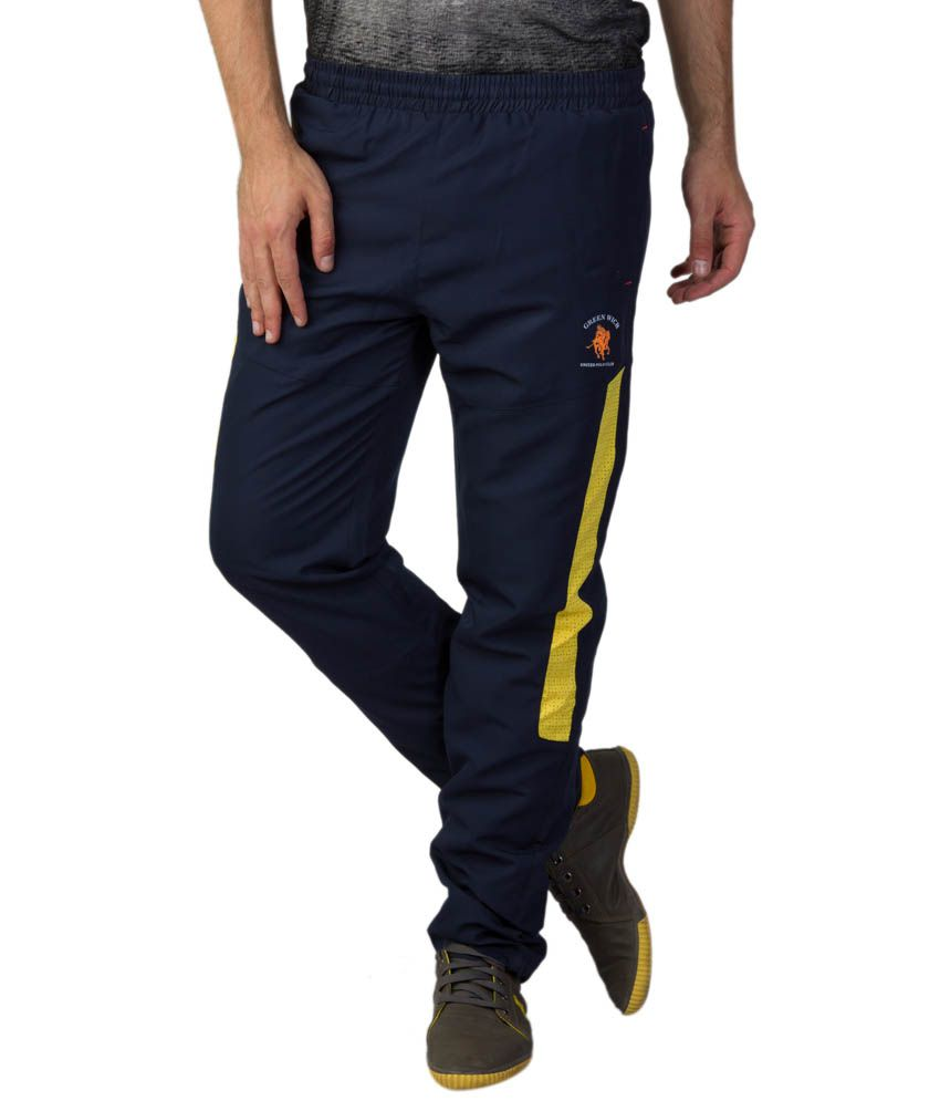 Greenwich United Polo Club Navy Polyester Trackpants