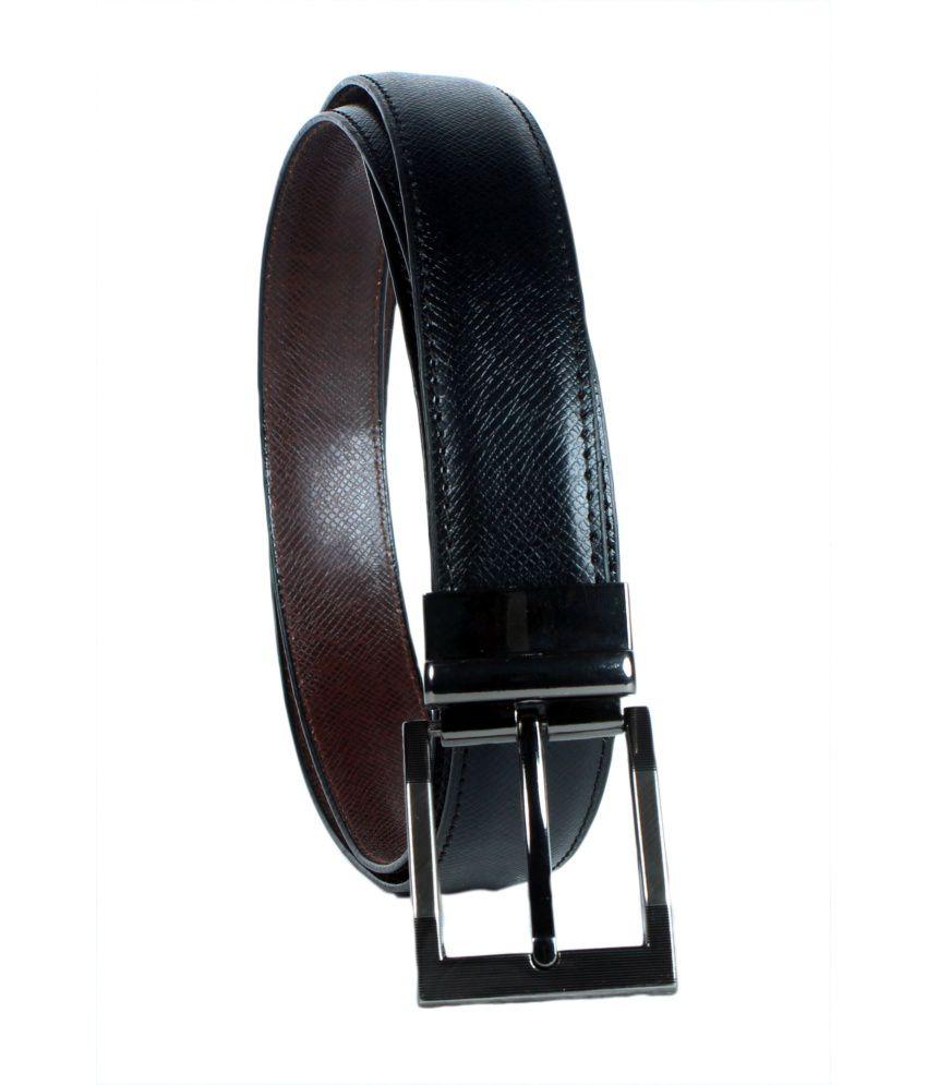 Revo Black Reversible Belt For Men