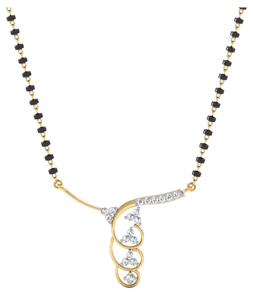 Vachya 14kt Gold Traditional Diamond Mangalsutra