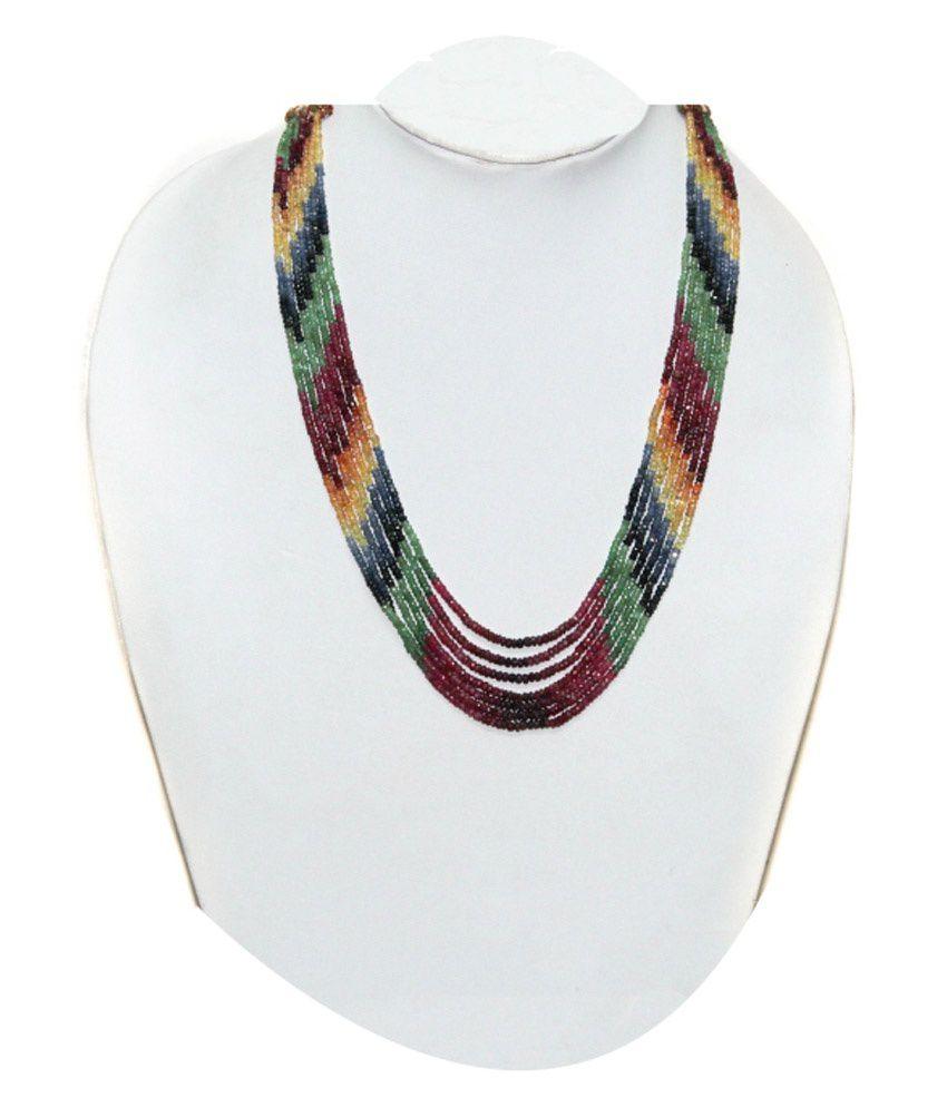 KCJ Colour Spark 22Kt Emerald Necklace
