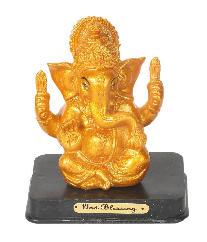 New Global Tuch Glossy Resin Ganesha Idol