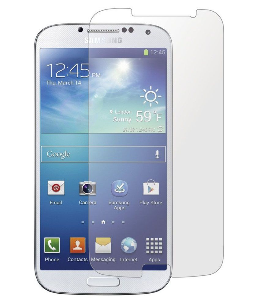 Samsung I9500 Galaxy S4 and Clear Screen Guard by Uni Mobile Care