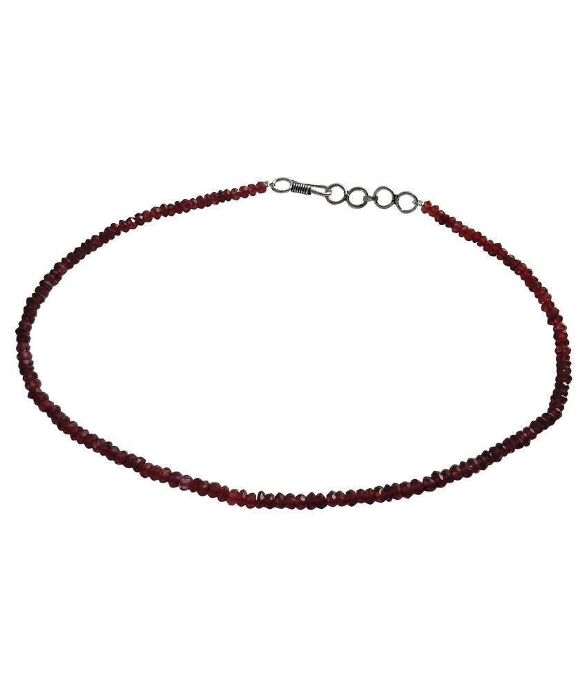 Abhika Studio Garnet Bead String -Strands Faceted-60Crt